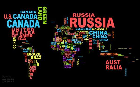Карта названий стран