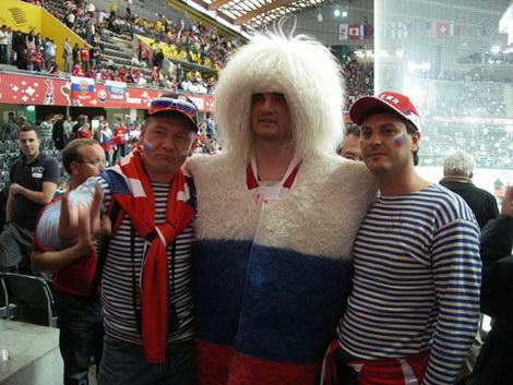 Болельщики за Россию на Чемпионате мира по хоккею 2009